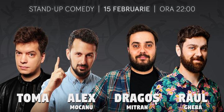 Stand-up cu Toma, Alex Mocanu, Mitran si Raul la ComicsClub!