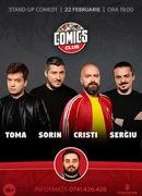 Stand-up cu Cristi, Toma, Sergiu si Sorin la ComicsClub