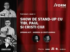 Show de Stand-Up cu Tibi, Paul și Cristi Ciui at /FORM Space