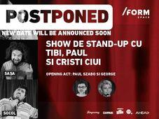 Show de Stand-Up cu Nicu Bendea, Sașa și Socol at /FORM Space