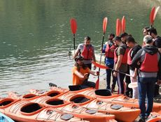 Initiere in kayaking