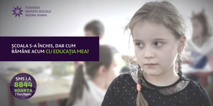 Fond de Necesitate: 200 de copii din familii vulnerabile vor să iși continue educația