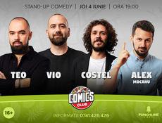 Stand-up cu Teo, Vio, Costel și Mocanu pe terasă la ComicsClub!