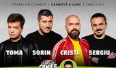 Stand-up cu Cristi, Toma, Sergiu și Sorin pe terasă la ComicsClub!