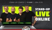 Stand-up live online cu Cristi, Toma, Sergiu și Sorin