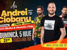 Stand up comedy cu Andrei Ciobanu, Raul Gheba, Madalin Carje la Aria TNB