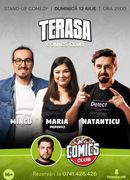 Stand-up cu Maria, Mincu și Natanticu pe terasă la ComicsClub!