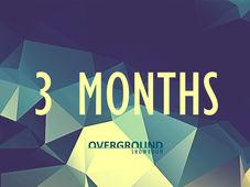 Overground Showroom: Abonament 3 luni
