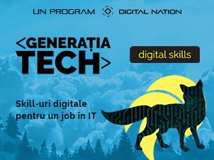 Generatia Tech: specializare în Digital Skills