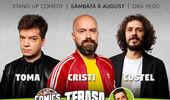 Stand-up cu Cristi, Toma, Costel pe terasă la ComicsClub!