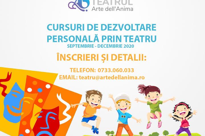 Curs de dezvoltare personala prin teatru pentru copii - Teatrul Arte dell`Anima