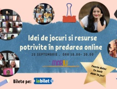 Atelier - Idei de jocuri, activități și resurse interactive potrivite în predarea online