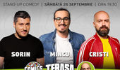 Stand-up cu Cristi, Mincu, Sorin pe terasa la ComicsClub!