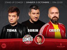 Stand-up cu Cristi, Toma și Sorin la ComicsClub!