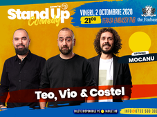Stand up comedy at TNB cu Teo, Vio, Costel si Alex Mocanu