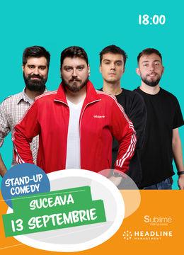 Suceava: Stand-up comedy cu Micutzu, Geo, Mirică și Cîrje de la ora 18:00
