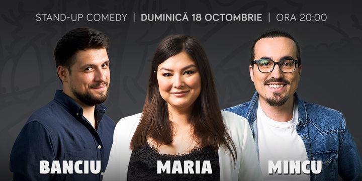 INTERIOR Stand-up cu Maria, Mincu si Banciu la ComicsClub!