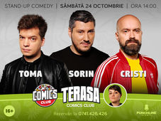 TERASA Stand-up cu Cristi, Toma și Sorin la ComicsClub!