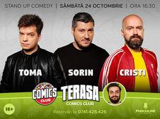 TERASA Stand-up cu Cristi, Toma și Sorin la ComicsClub! Show 2