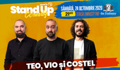 Stand up comedy at TNB cu Teo, Vio și Costel