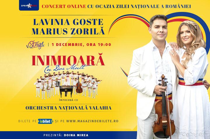 """""""Inimioara cu dor mult"""" Lavinia Goste si Marius Zorilă alături de Orchestra Națională Valahia"""
