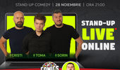 Stand up - Live online cu Cristi, Toma si Sorin