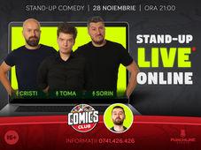 Stand up - Live online cu Cristi, Toma si Sorin