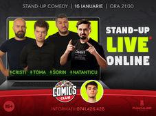 Stand up - Live Online cu Cristi, Natanticu, Toma și Sorin!