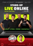 Stand up Caritabil - Live Online cu Cristi, Natanticu, Toma și Sorin!