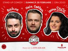 Stand-up cu Bucălae, Cortea și Ioana State la ComicsClub!