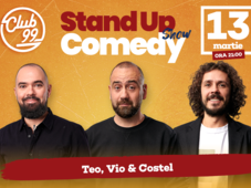 Stand up comedy la Club 99 cu Teo, Vio si Costel Show 2