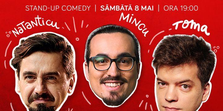 Stand-up cu Natanticu, Toma și Mincu la ComicsClub!