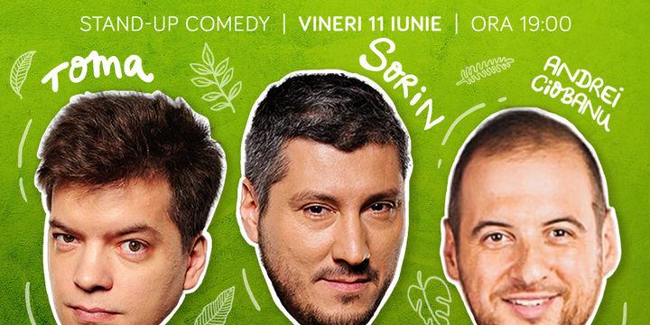 Stand-up cu Toma, Sorin și Andrei Ciobanu pe Terasa Comics! SHOW 1