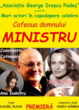 Alba Iulia: Cafeaua domnului ministru