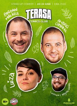 Stand-up cu Andrei Ciobanu, Bogdan Mălăele și Ioana Luiza pe terasă la ComicsClub!