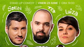 Stand-up cu Sorin, Teo și Ioana Luiza pe terasă la ComicsClub!