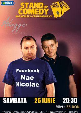 Brasov: Stand-up Comedy - Nae Nicolae si Cristi Manolescu