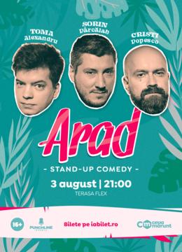 Arad: Stand Up Comedy cu Toma, Popesco si Sorin Show 2