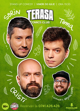 Stand-up cu Cristi, Toma și Sorin pe Terasa ComicsClub! Show 1