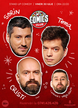 Stand-up cu Cristi, Toma și Sorin la ComicsClub! Show 2