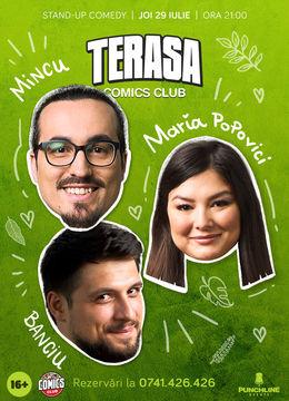 Stand-up cu Maria, Mincu și Banciu pe Terasa ComicsClub!