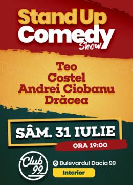 Stand up comedy cu Teo, Costel, Andrei Ciobanu si Dracea