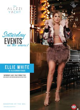 Ellie White live on Alezzi Yacht