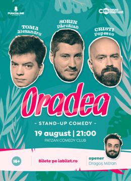 Oradea: Stand Up Comedy cu Toma, Cristi si Sorin @Patzan Comedy Club