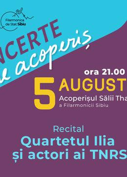 """Sibiu: Recital Cameral Cvartetul de coarde """"Ilia"""""""