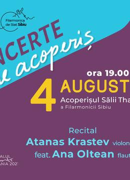 "Sibiu: ""Note de firmament"" Recital Atanas Krastev (BG) - violoncel feat. Ana Oltean (ROU/Ger) - flaut"