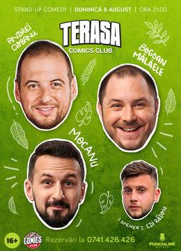 Alex Mocanu, Andrei Ciobanu și Bogdan Mălăele pe Terasa ComicsClub!