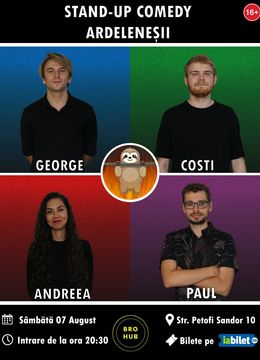 Cluj: Stand-up Comedy cu Ardeleneșii la Terasa The Brothers