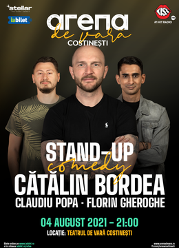 Arena de Vara Costinești: Stand up comedy cu Catalin Bordea, Claudiu Popa și Florin Gheorghe