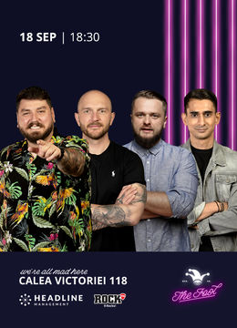 The Fool: Stand-up comedy cu Micutzu, Bordea, Cortea și Florin Gheorghe